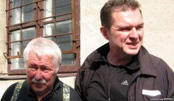 Andrzej Poczobut z ojcem, panem Stanisławem Poczobutem. Fot.svoboda.org