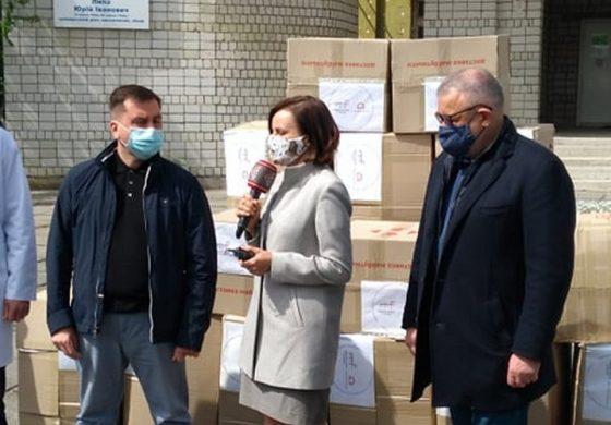 Konsul RP przekazała kombinezony i maski ochronne Lwowskiemu Szpitalowi dla Weteranów i Osób Represjonowanych