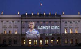 Iluminacja Pałacu Prezydenckiego ku czci Kazimierza Górskiego