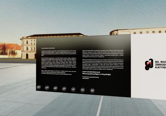 Wirtualne upamiętnienie 80. rocznicy Zbrodni Katyńskiej