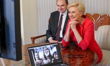 Pierwsza dama RP na wirtualnej uroczystości Związku Polaków na Białorusi