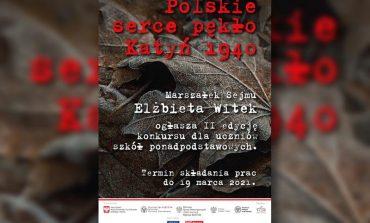 """""""Polskie serce pękło. Katyń 1940"""". Konkurs dla uczniów szkół ponadpodstawowych"""