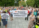 Wilno: protest pod siedzibą rządu przeciwko utworzeniu ośrodka dla migrantów w Dziewieniszkach