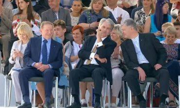 Jak Zełenski rozśmieszył na paradzie Kuczmę, Juszczenkę i Poroszenkę