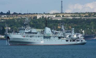 Awaria ukraińskiego okrętu na Morzu Czarnym. Obecnie jednostka jest holowana do Odessy